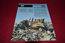 Caterpillar D9N Waste Disposal Crawler Tractor Dozer Dealer's Brochure DCPA8