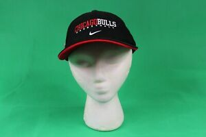 Vintage 90s Chicago Bulls Basketball Strapback Hat by NIKE TEAM Cap 2 Tone RARE