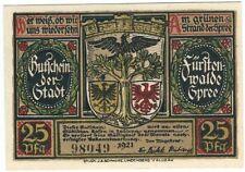 Notgeld - Stadt Fürstenwalde - 25 Pfennig 1921 - Motiv 3