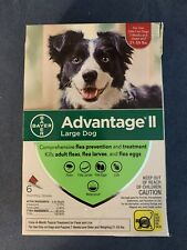New listing Bayer Advantage Ii For Large Dogs 21-55 lbs 6 Monthly Doses Kills Fleas