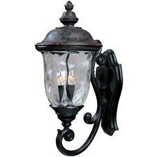 Maxim Carriage House Dc 3-Light Outdoor Wall Lantern Bronze - 3424Wgob