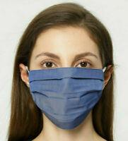 🇫🇷 Masque AFNOR de Protection Lavable Norme Française  Barrière Bleu Jeans