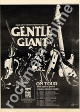 Gentle Giant In A Glass House String Driven Thing MM4 LP/Tour Advert 1974