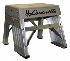 Louisville 1 Ft. High, Type IA Rating, Aluminum Step Stool 300 Lbs. Load Capa...