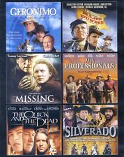 6 Western movies new DVD set Geronimo Missing Professionals Quick Dead Silverado