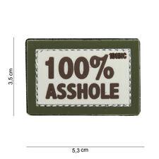 100% Asshole Arschloch Patch Klett Logo Airsoft Paintball Tactical Softair