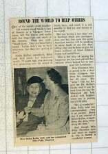 1955 Miss Helen Keller With Companion Polly Thompson Round World