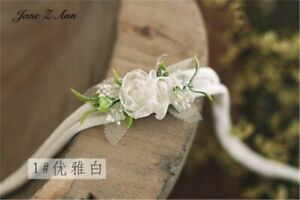 Rose Headdress Newborn Baby Girl Pictures Hair Band Floral Photography Props