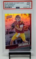 2018 Panini Father's Day NFL Rookies SAM DARNOLD RC Card #'d 188/399 PSA 9 MINT!