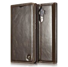 CaseMe Split PU Leather Cover BROWN, For Huawei Mate 9