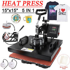 15x15 5 In 1 Combo T Shirt Heat Press Transfer Machine Sublimation Swing Away