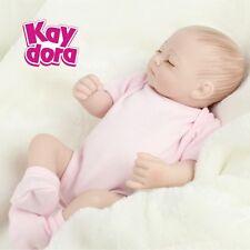 """Handmade Lifelike Baby Dolls Reborn Girl Mini 10"""" Full Vinyl Real Life Baby Doll"""