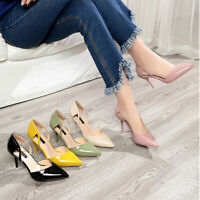 Fashion Women's Solid Color OL Style Patent Leather High Heeled Shoes JCAU