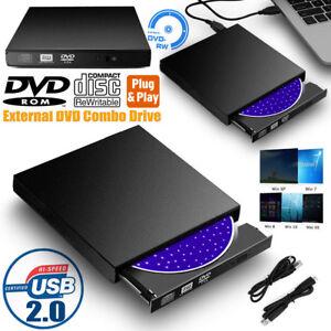 Slim External DVD Drive RW USB 2.0 CD Writer Drive Burner Player PC Laptop UK