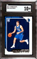 2018-19 Panini NBA Hoops #268 Luka Doncic Mavericks RC Rookie SGC 10 COMP PSA