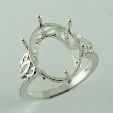 Semi Mount 12x16 MM Ring Oval Shape 925 Sterling Silver Anniversary Gift Jewelry