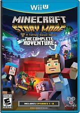 NEW Minecraft: Story Mode The Complete Adventure (Nintendo Wii U, 2016)