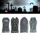 4x Halloween Gravestone Prop Foam Tombstones Outdoor Decoration Graveyard Horror