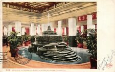 Chicago Illinois Fountain in Pompeian Room Auditorium Annex Antique Postcard G04