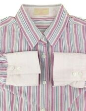 Ladies Haines and Bonner Shirt 12 Pink Striped Long Sleeve 100% Cotton