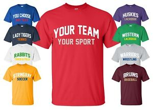 Custom Sports Jersey T-Shirt with YOUR TEAM NAME any text league practice parent