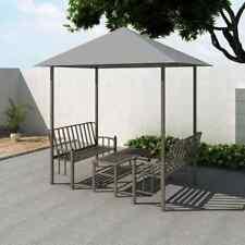 Vidaxl Padiglione giardino con tavolo panche Antracite Gazebo Pergola Chiosco