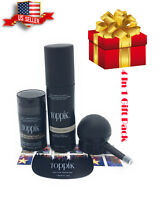 TOPPIK medium brown 12g 4 in 1 Gift Pack Comb,Applicator, Spray, Hair fibers