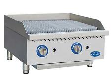 Globe Gcb24g Rk 24 Char Rock Counter Top Charbroiler Natural Gas Commercial