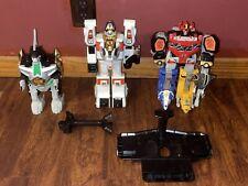 Huge Vintage Power Rangers Zord Lot* Megazord , Dragonzord, Tigerzord* Look!