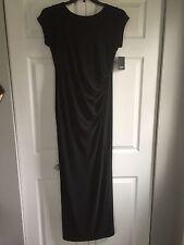 womens Marina dresses floor length black short sleeve stretch dress size 10