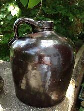 Vintage Dark Brown Stoneware Jug