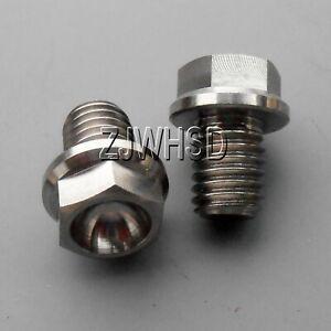 2pcs M8 x 10 Titanium Ti Screw Bolt Hexagon Hex Head Flange / Aerospace Grade