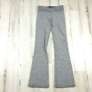 Ivivva By Lululemon Flare Yoga Pants Leggings Girls Gray Size 8 (21x26.5 )EUC