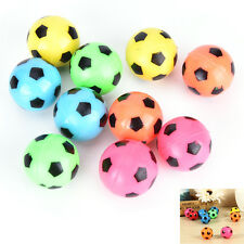10 Pcs Bouncing Football Ball Rubber Elastic Jumping Soccer Kid Outdoor Toys gt
