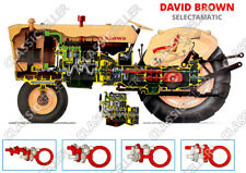 David Brown 770 880 990 Selectamatic Remorqueur Poster affiche image Bouclier Coupe