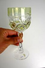 altes Hofbauer Römerglas Glas Überfang gelb Römer Glas Bleikristall Pokal