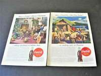 "1944 Coca-Cola ""Have a Coke"" Set of (2) Magazine Page Advertisement Prints."