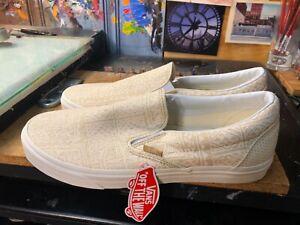 Vans Classic Slip On Pacific Isle Natural Blanc de Blanc Size US 11.5 Men New