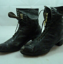 Antique Ault Williamson Shoes Black Leather Ladies Womens Victorian Boots