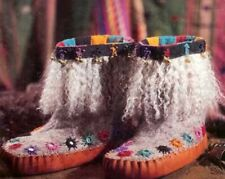 Spin-off magazine fall 1995: Felted Boots, slipper-socks.