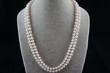 kultivierte 7-8mm weiße Süßwasser-perle lange Halskette 46inch