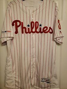 100% Authentic Philadelphia Phillies Bryce Harper Flex Base Jersey Size 48