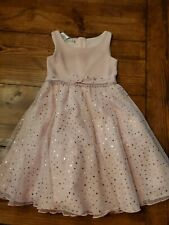 Bonnie Jean Girls Pink Detail Sleeveless Dress Child Size 6X