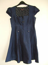 Gorgeous Blue Vintage Style Dress from River Island, Size 8