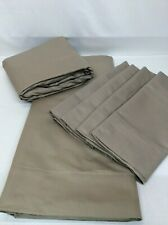 Queen Sheets Taupe Home Reflections 800Tc Easy Care Sheet Set New