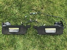 94-04 Mustang BLACK Convertible Visors w/ Wiring Harness Wire Pair Set 1994-2004