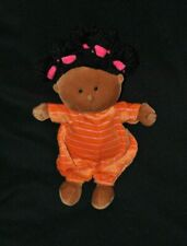 Peluche doudou poupée chiffon bébé LILLIPUTIENS métisse orange rose 28 cm TTBE