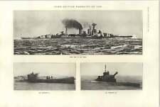 1921 Submarine M 23 L 70 1 P And O Liner Naldera Motor Ship Theodore Roosevelt