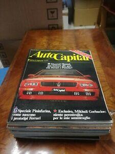 Mieten Zeitschrift Autocapital Jahrgängen Jahr 1990 Komplett Auto Cars
