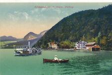 AK aus St.Gilgen, Fürberg mit Ruderboot und Dampfer, Salzburg  (R10)